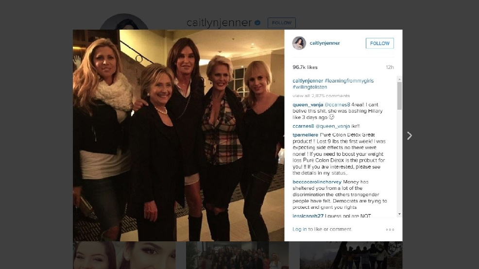 #WillingToListen: Caitlyn Jenner poses with Hillary ...