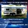 Thieves bring bolt cutters to steal camper from Lewiston residence