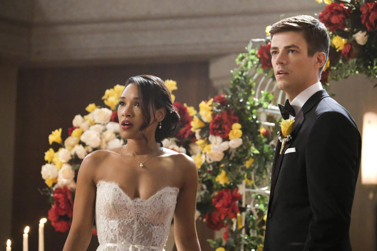 "Supergirl -- ""Crisis on Earth-X, Part 1"" -- SPG308b_0302.jpg -- Pictured (L-R): Candice Patton as Iris West and Grant Gustin as Barry Allen -- Photo: Bettina Strauss/The CW -- �© 2017 The CW Network, LLC. All Rights Reserved"
