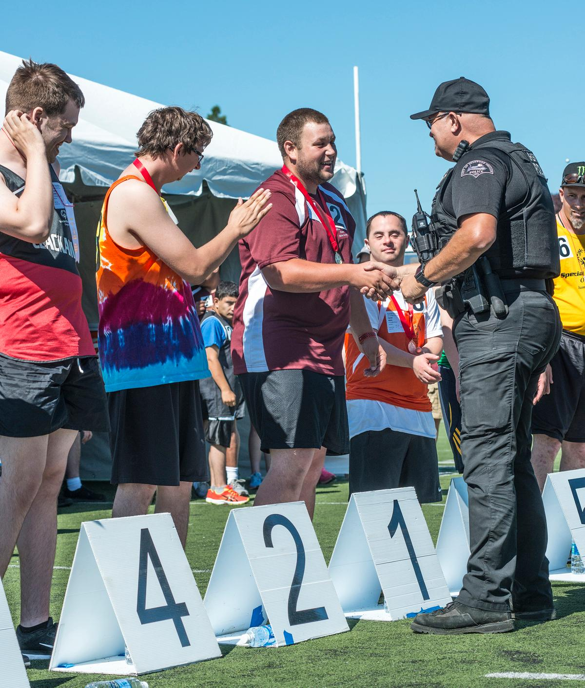 Special Olympics Oregon held its competition at Oregon State University's sports complex and Corvallis High School's track on Saturday. The athletes competed in  golf, softball, track & field, wheel chair races and bocce. Photo by Abigail Winn, Oregon News Lab