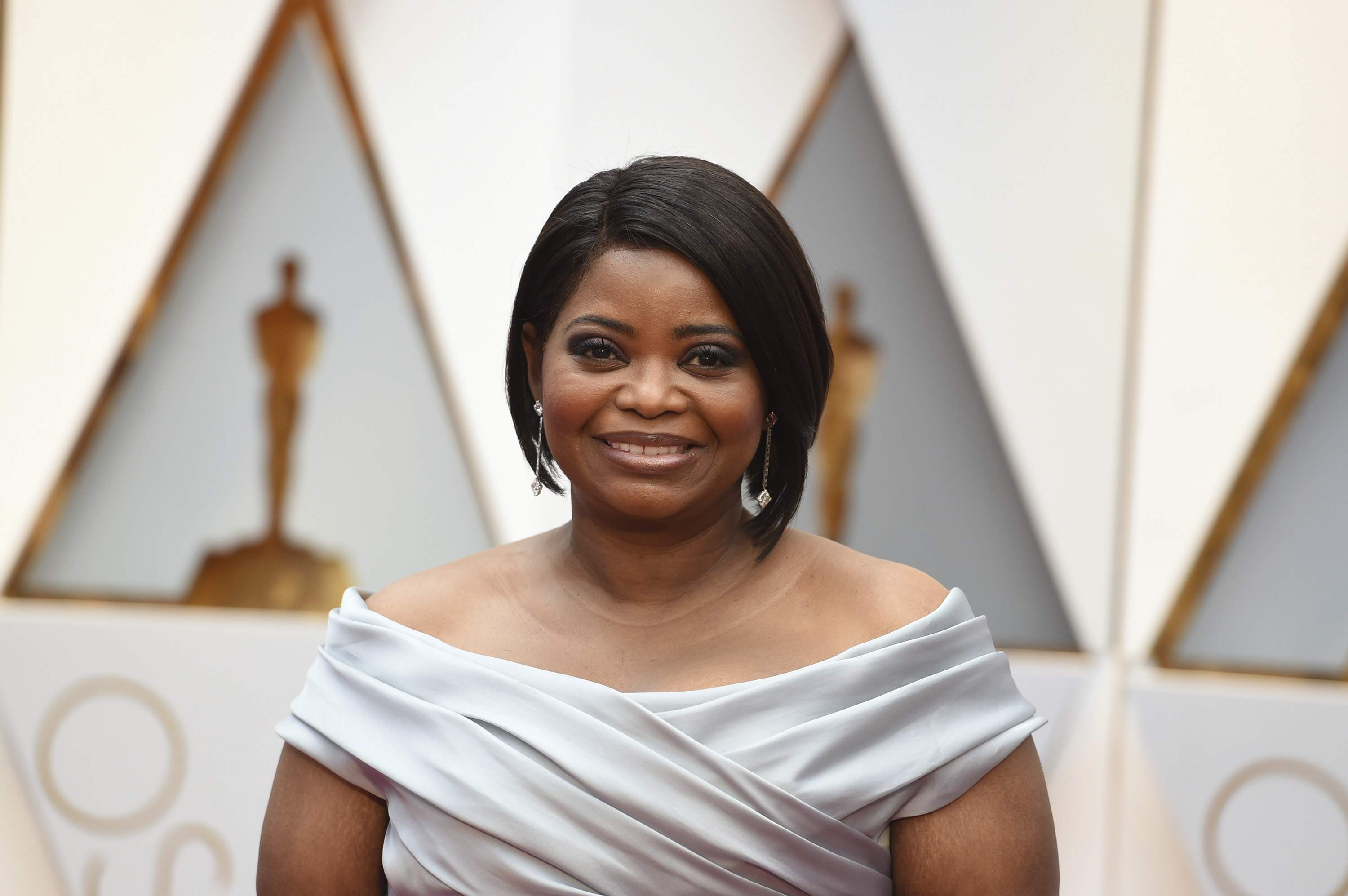 Octavia Spencer arrives at the Oscars on Sunday, Feb. 26, 2017, at the Dolby Theatre in Los Angeles. THE ASSOCIATED PRESS
