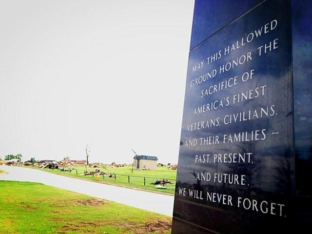 Veterans Memorial Park was obliterated. Thanks to an online drive, the park received $100,000 to assist in the rebuilding process. A tribute to the fallen heroes was untouched by the storm.