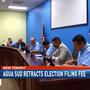 Agua SUD retracts $1,000 election filing fee