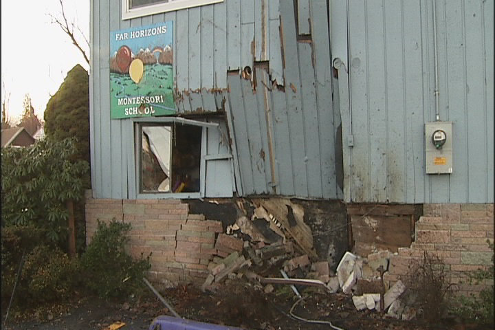 Intoxicated driver crashes into preschool at high speed