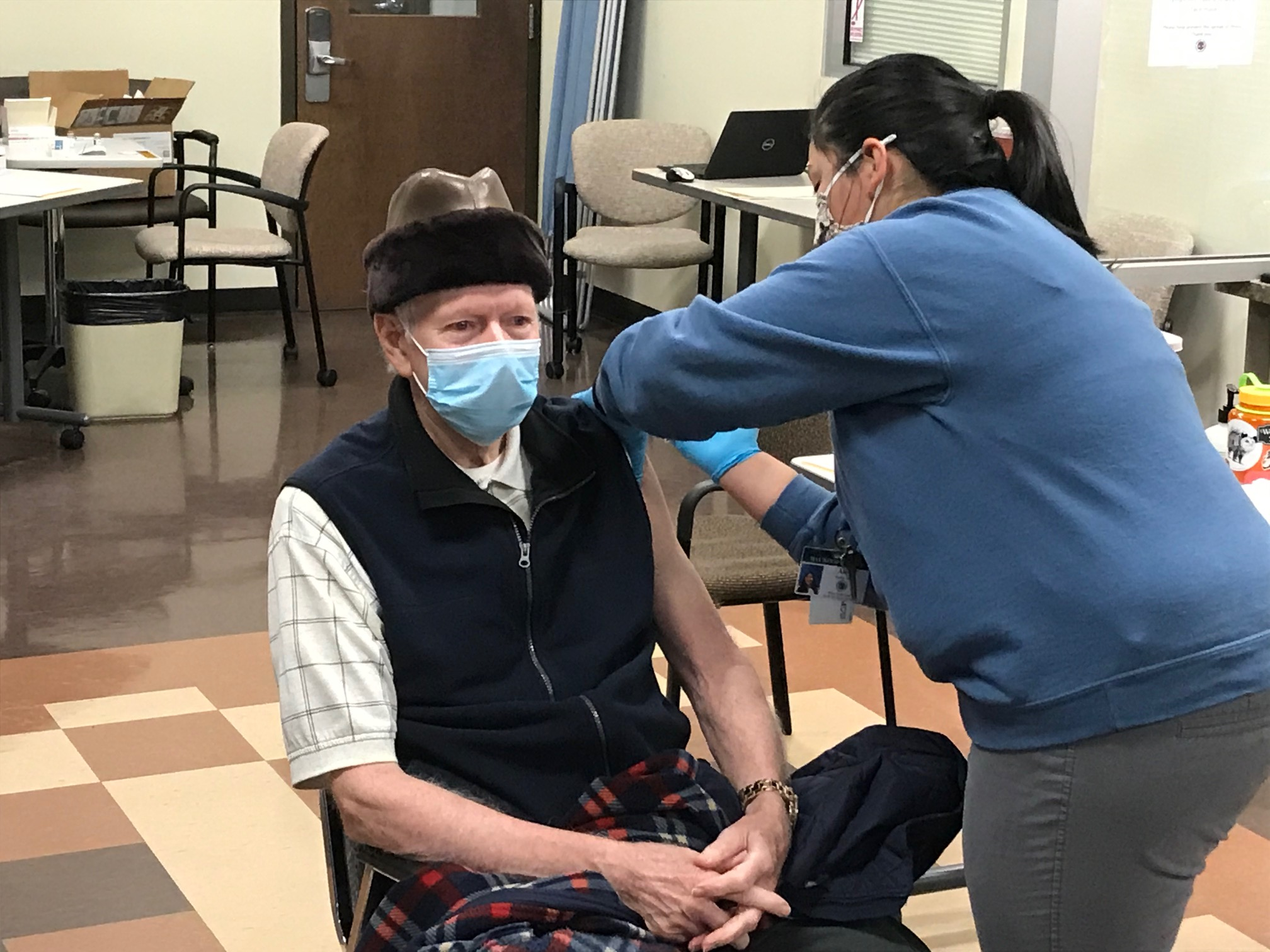 <p>Now that that those 65 and older in North Carolina are eligible for the COVID-19 vaccine, many counties like Haywood will face even greater challenges due to limited supplies and staffing. (Photo credit: WLOS)</p>