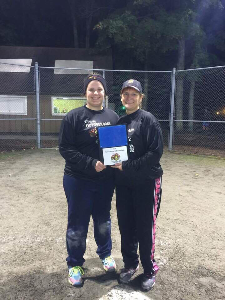Both David and Lisa Somers enjoyed playing softball. Photo Courtesy: Family friend