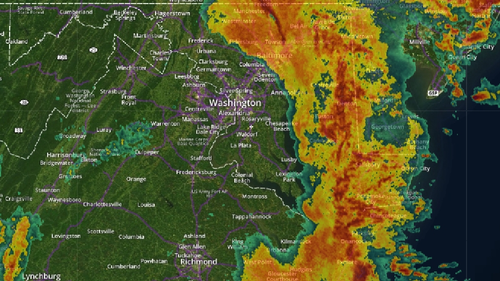 Several Maryland Counties Placed Under Flood Warning Friday Wbff