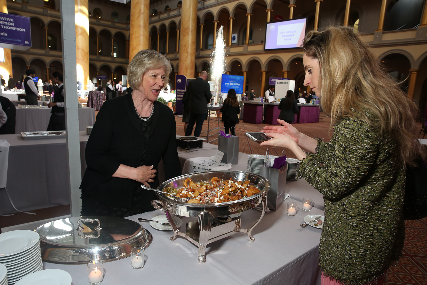 Former First Lady of Idaho Vicki Risch serves up Buffalo Blues. (Amanda Andrade-Rhoades/DC Refined)