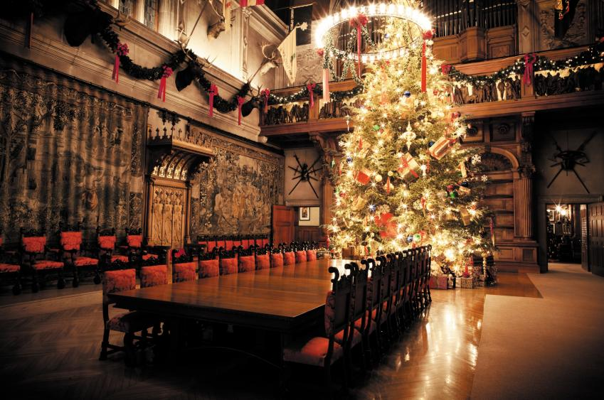 35-foot Fraser fir tree in the Banquet Hall. (Photo Credit: The Biltmore Company)