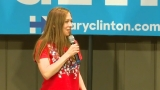 WATCH: Chelsea Clinton campaigns for mother in Seattle Saturday