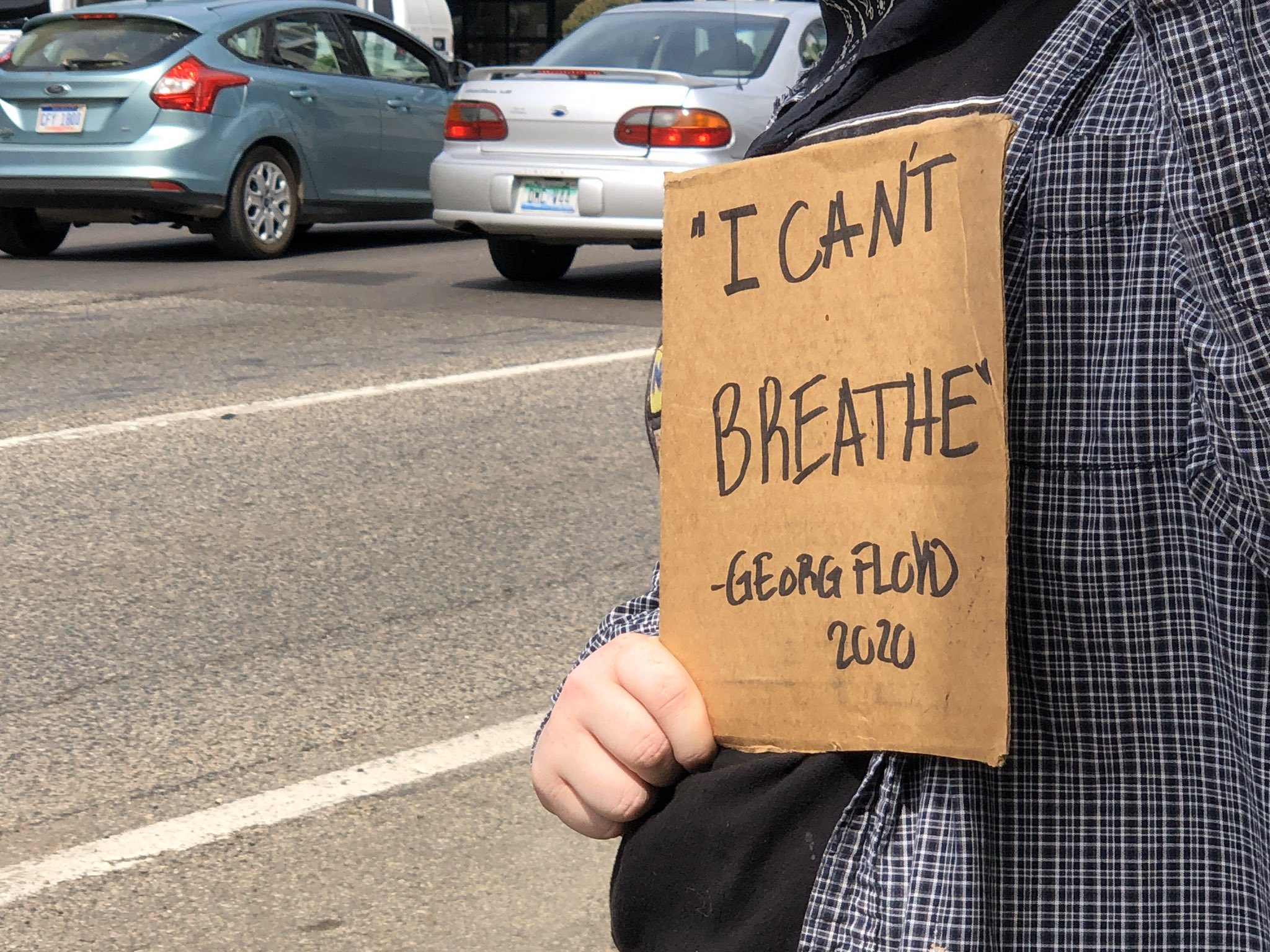 """I can't breathe"" was a common refrain at all the protests throughout Michigan. (WWMT/Genevieve Grippo)"