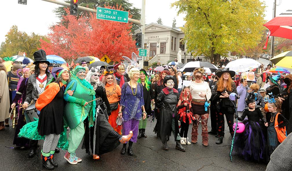 Andy Atkinson / Daily Tidings<br>Thousands showed up Wednesday afternoon for the Halloween parade beginning from the Ashland library.