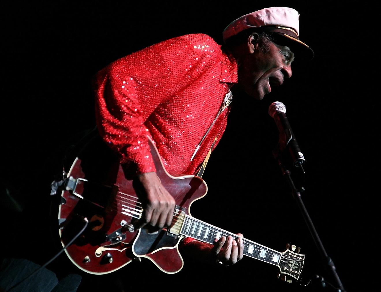 Chuck Berry performing live 'Opening Night at WSA', the world's largest footwear and accessories marketplace, at the MGM Grand.  The show benefactor, Soles4Souls, has agreed to donate 100,000 pairs of shoes to African countries, with the footwear to be delivered during 2007 on several international relief trips. Las Vegas, Nevada - 01.02.07  Featuring: Chuck Berry performing live Where: United States When: 01 Feb 2007 Credit: Mike Stotts/ WENN