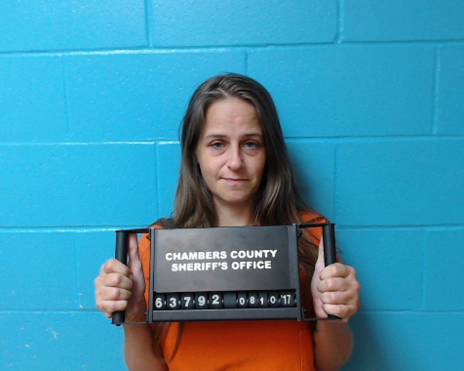 Jacquilyn Jones, 37, was arrested Wednesday for meth possession after Chambers County deputies raided an alleged illegal gambling operation on Ross Sterling Avenue. (Photo provided by the Chambers County Sheriff's Office)