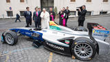 PHOTOS | Pope Francis blesses a Formula E electric car at the Vatican