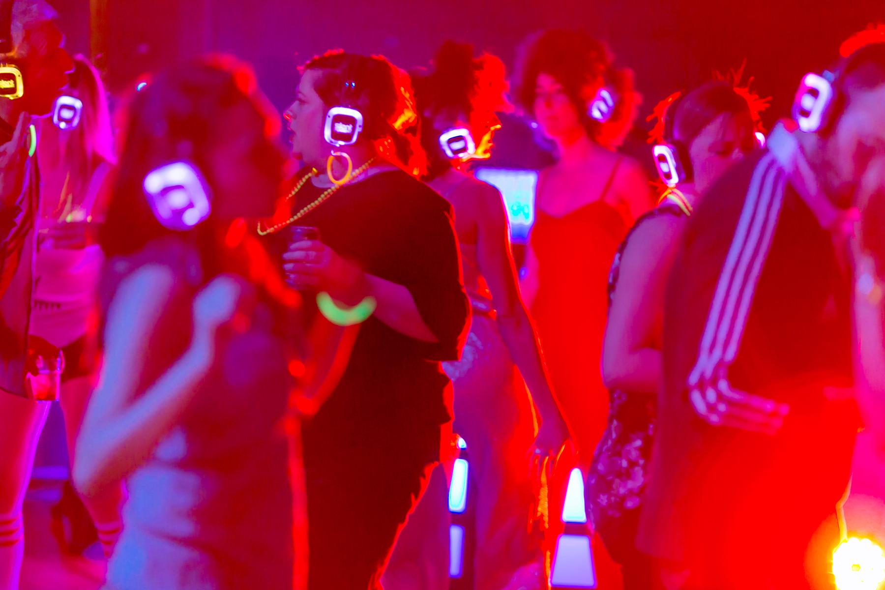"Cincinnati Opera hosted its ""Curtain Up: Silent Disco"" party on Saturday, April 1 at the Aronoff Center. / Image: Mike Bresnen Photography"