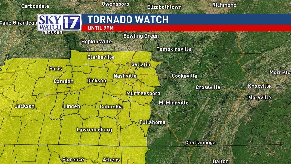 Code Red Parts Of Middle Tennessee Under Tornado Watch Wztv