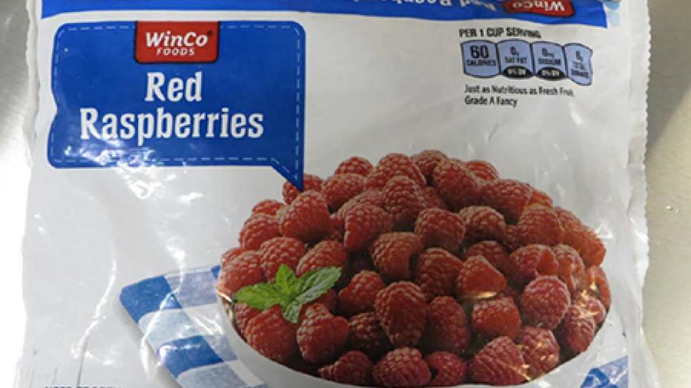 WinCo recalls frozen red raspberries; fruit could be contaminated with Norovirus