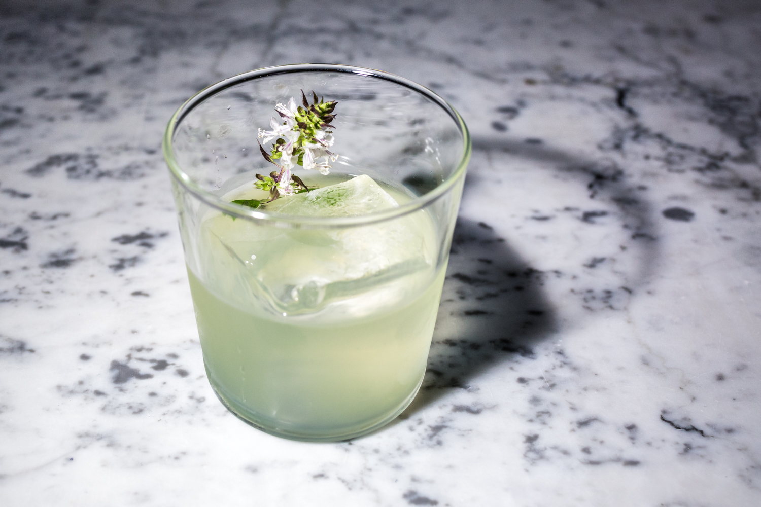 Mother's Milk: gin, Chartreuse, Luxardo, whey, and basil / Image: Catherine Viox{ }// Published: 9.19.19