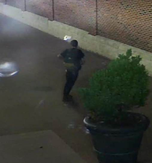 DPD looking to track down suspect accused of spray-painting graffiti (Courtesy: Dayton Police)
