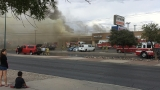 Fire rips through businesses at Lee Treviño shopping center