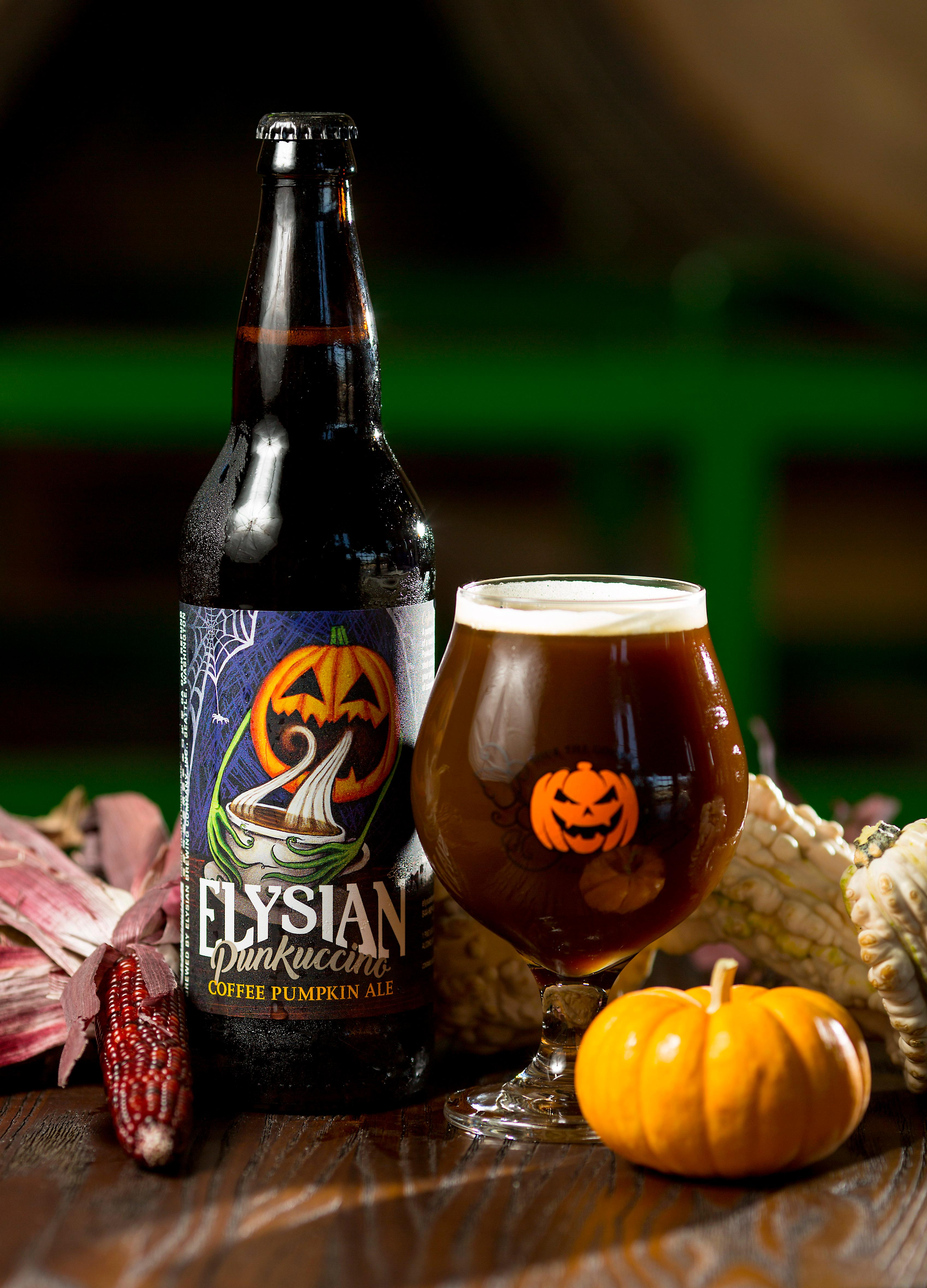 "For all the coffee lovers out there, Elysian Brewing makes a Punkuccino Coffee Pumpkin Ale that will be on tap at the Great Pumpkin Beer Festival this weekend. Elysian's tasting notes on this ale are: ""A pumpkin ale with the attitude of a world-weary barista, Punkuccino packs a short shot of Stumptown coffee toddy in your pint with just a shake of cinnamon and nutmeg."" (Sy Bean / Seattle Refined)"