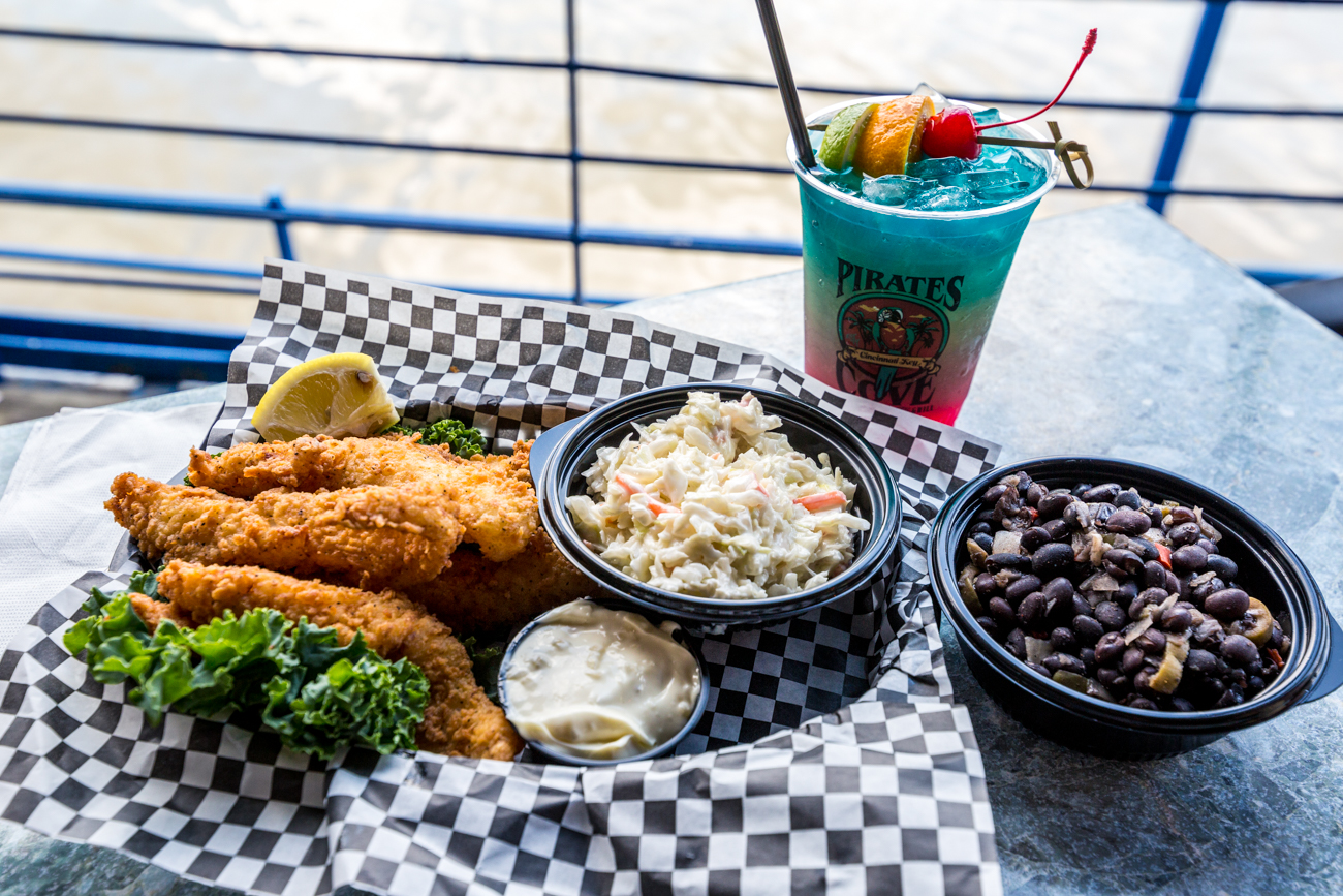 "Famous Grouper Fingers from Pirate's Cove Tropical Bar & Grill: Fresh grouper, hand-cut into ""fingers"" served with tartar sauce / Image: Catherine Viox // Published: 7.18.19"
