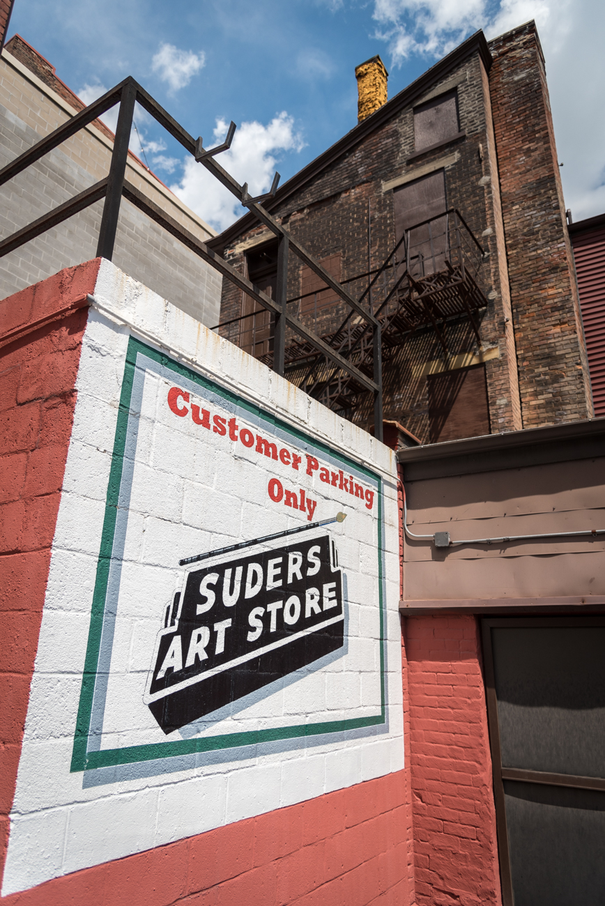 Suders Art Store has been in the same location on Vine Street in Over-the-Rhine since 1931, and in business since 1924. The store is Cincinnati's reliable purveyor of paints, pencils, brushes, frames, paper, and every other material and tool used for artistic expression. It also offers painting restoration and cleaning, among other related services. ADDRESS: 1309 Vine Street, Cincinnati, OH 45202 / Image: Phil Armstrong, Cincinnati Refined // Published: 4.25.17