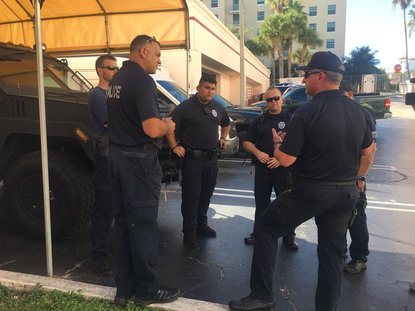 West Palm Beach Police Officers Head To The Panhandle To