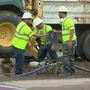 Crews working to repair water main break in midtown