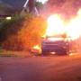 Minivan catches fire, explodes in North Portland neighborhood