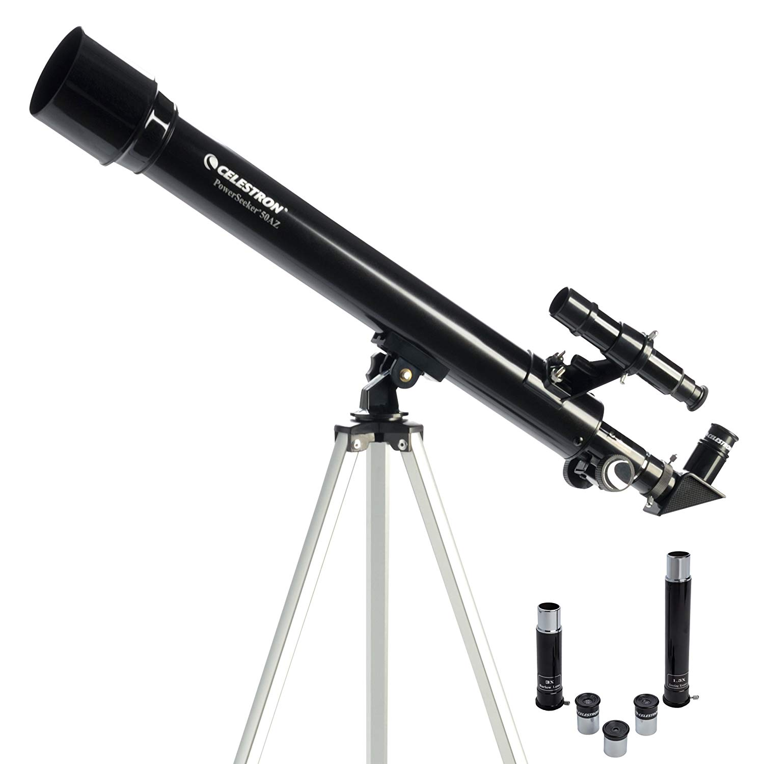 Shoot for the stars with this Celestron PowerSeeker 50 AZ Refractor Telescope $39.99 on Amazon .{ } It's out of this world (had to do it). (Image: Amazon){ }