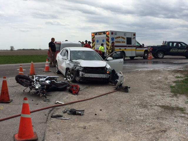 Just before 2 p.m. a Chevy Malibu was going north bound on US 63 to make a left turn on to Route W. (KTVO)