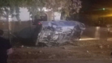 Man leads police on chase, crashes into front yard