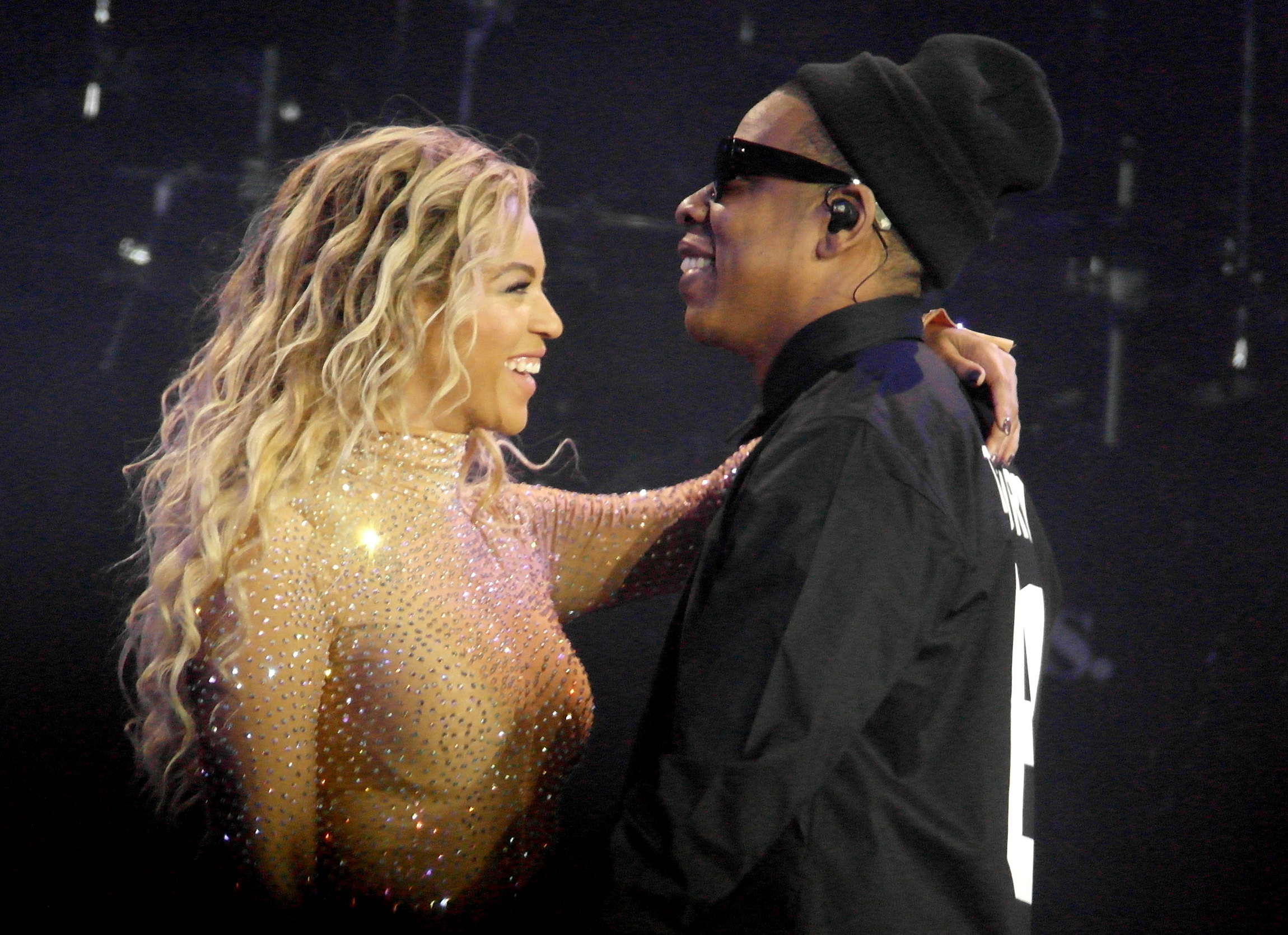 Beyonce performs live in concert at the O2 during 'The Mrs. Carter Show World Tour'. Husband and rapper, Jay Z joined her on stage for a special guest appearance                                    Featuring: Beyonce, Jay Z                  Where: London, United Kingdom                  When: 05 Mar 2014                  Credit: WENN.com