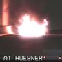 Car burns along I-10 as commuters begin work week