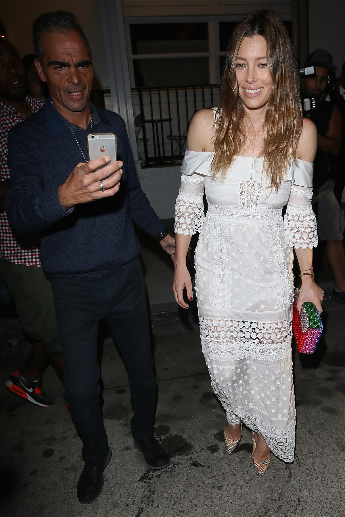 Jessica Biel seen leaving the opening night of her new restaurant Au Fudge  Featuring: Jessica Biel Where: Los Angeles, California, United States When: 17 Feb 2016 Credit: Michael Wright/WENN.com