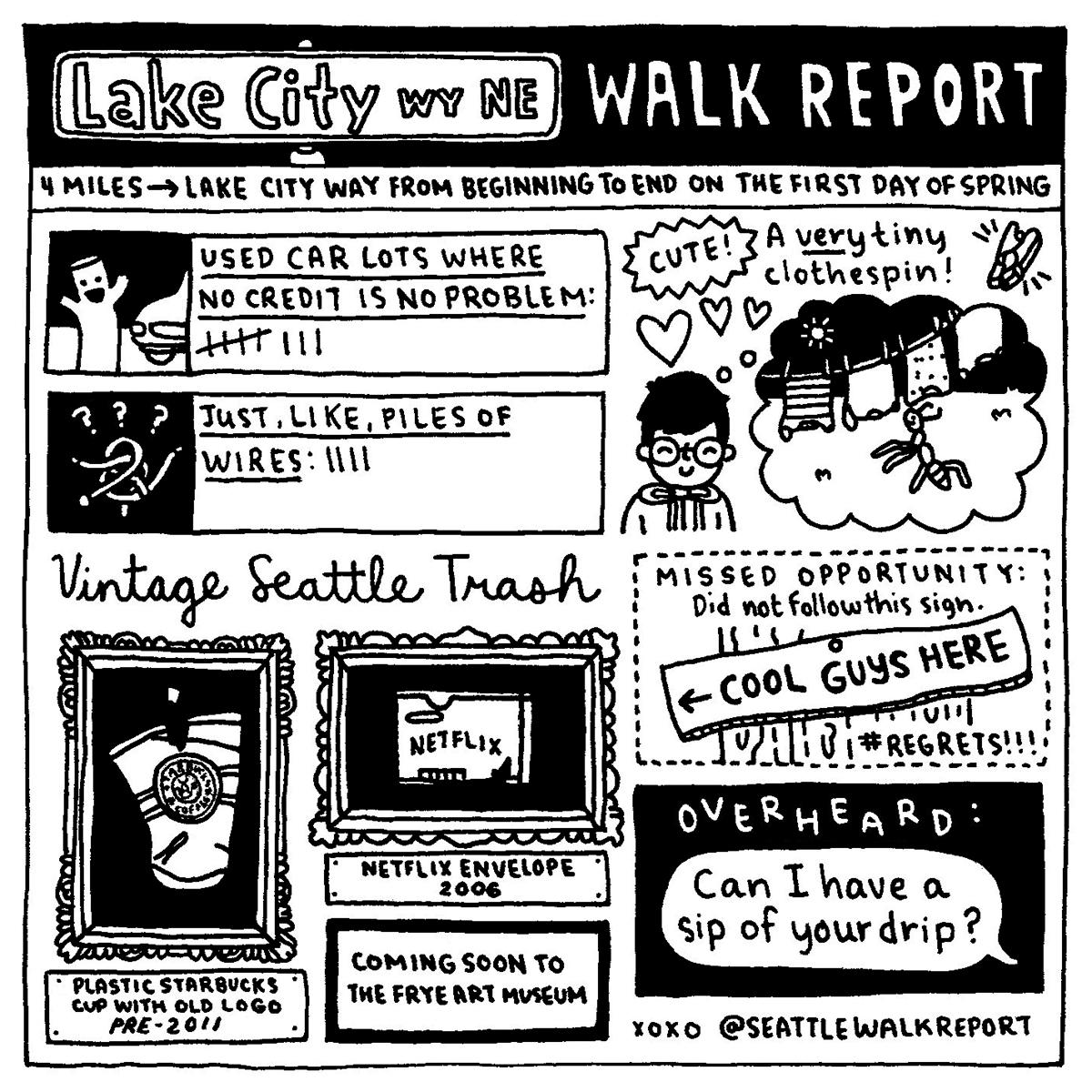 { }Lake City Way N.E. (Image: @seattlewalkreport / seattlerefined.com/seattlewalkreport)