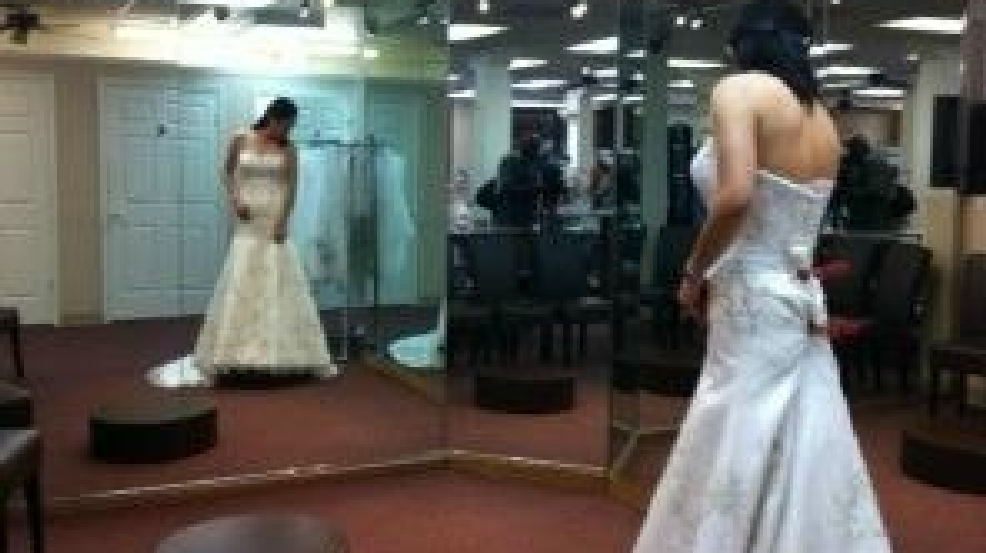Operation wedding gown provides wedding dresses to for Free wedding dresses for military brides