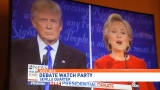 Locals watch debate night with light-hearted games
