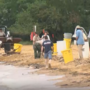 Debris cleanup at Sandy Point State Park continues after rain hits area