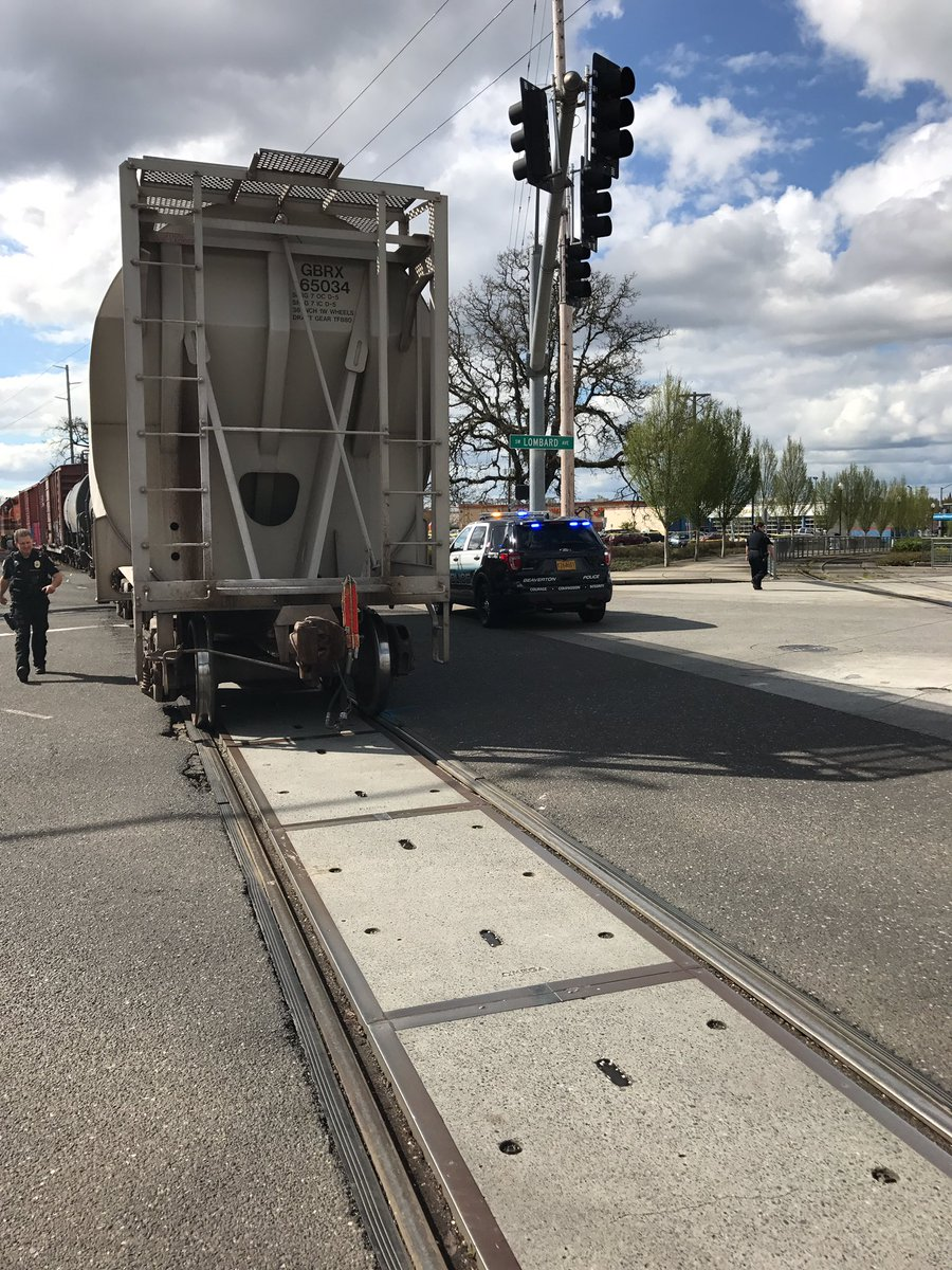 Police investigate after a train struck a woman in Beaverton on Thursday, April 20, 2017. (Photo: Beaverton Police Department)