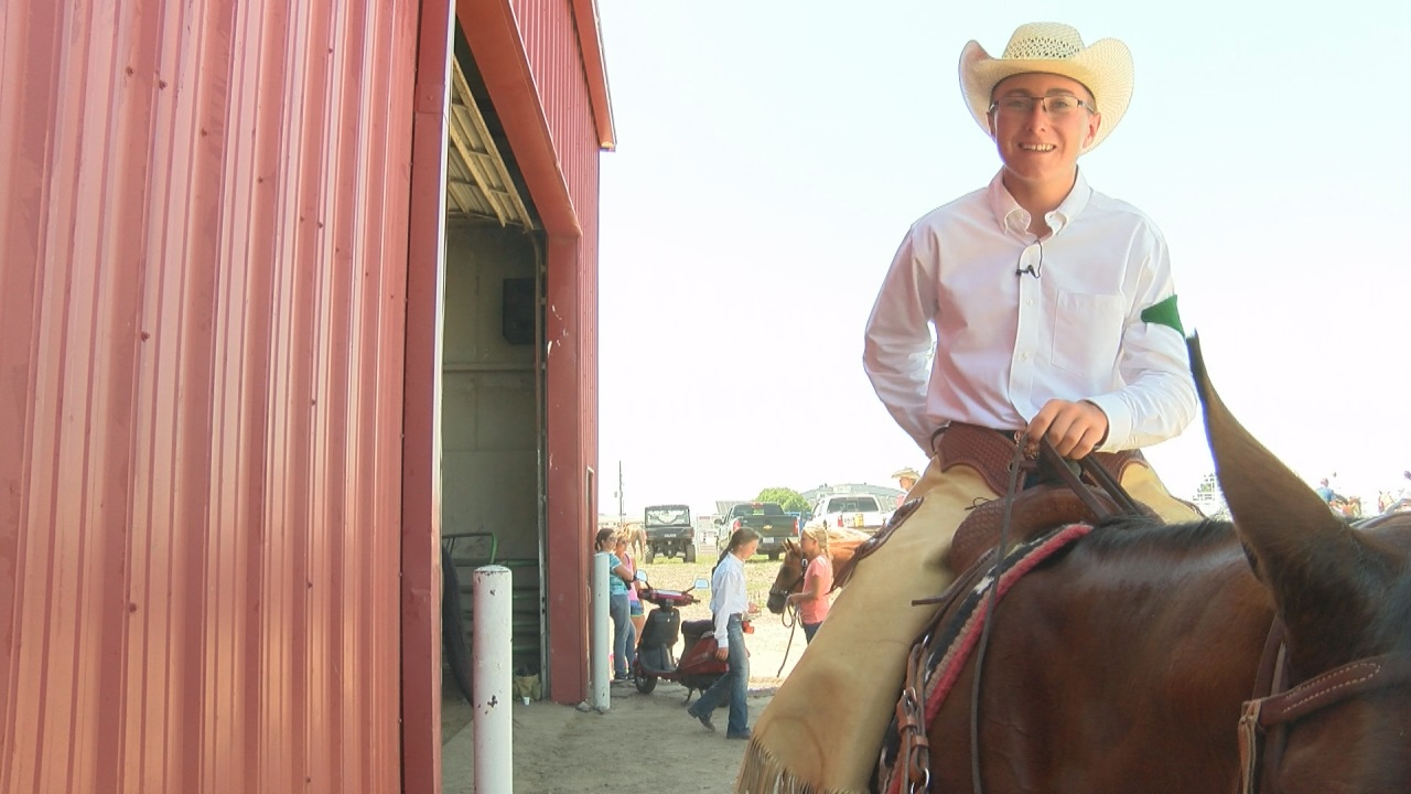 Chance Mignery and his horse Woody at the State 4-H Horse Expo (NTV News)