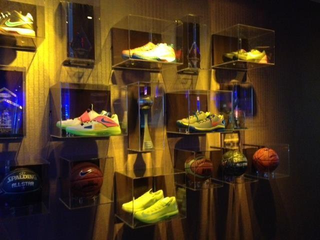 Durant's shoes and basketballs