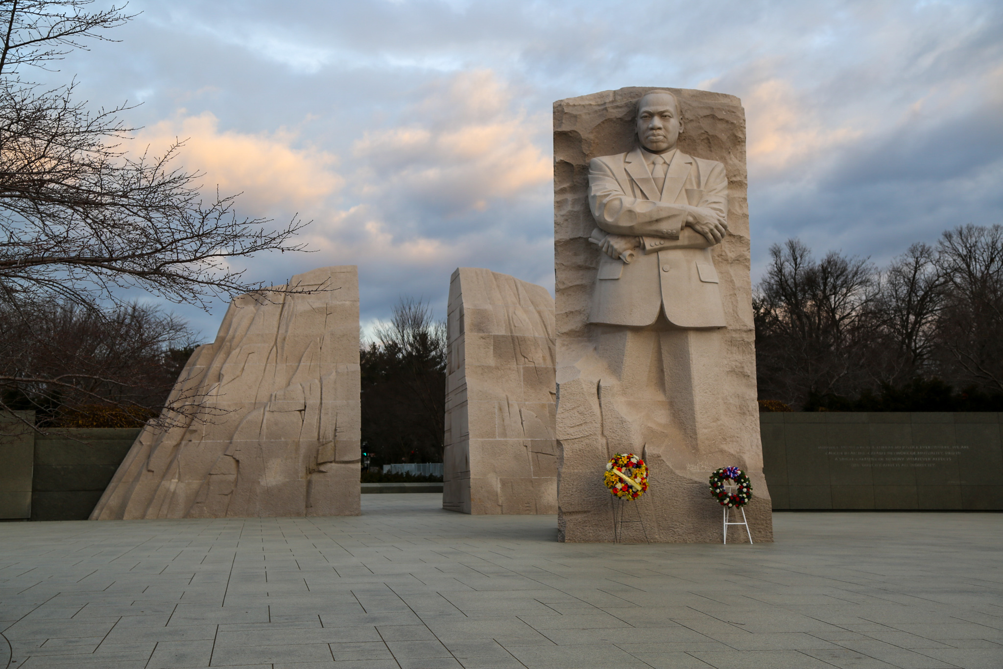 Martin Luther King Monument in Washington D.C., Jan.18, 2021. National Guard Soldiers and Airmen from several states have traveled to Washington to provide support to federal and district authorities leading up to the 59th presidential inauguration.  (U.S. Army National Guard photo by Spc. Christopher Hall)
