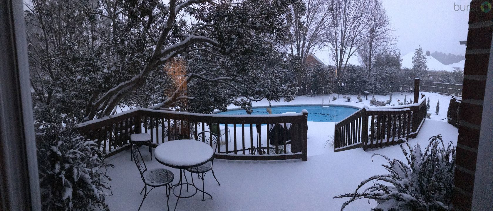 Snow and pool in Florence (Submitted by{&amp;nbsp;}Melinda Lott)<p></p>
