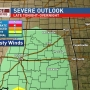 T-storms possible overnight