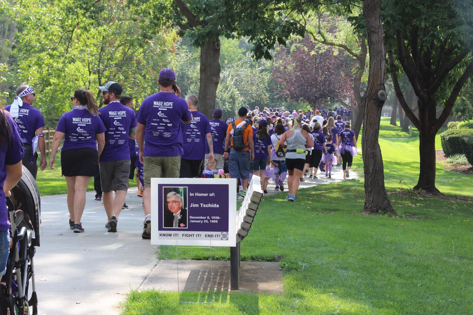 PurpleStride, the walk to end pancreatic cancer, was back in Boise Saturday. The Pancreatic Cancer Action Network say 600 people participated in the event at Ann Morrison Park and it raised more than $64,000.  PanCAN says it is the only organization addressing pancreatic cancer through research, clinical initiatives, patient services and advocacy.  Their urgent mission is to save lives and double survival by 2020. Pancreatic cancer is the third-leading cause of cancer death in the U.S. It has a five year survival of just 9%. More than 145 people are diagnosed each day. The funds raised through PurpleStride events go towards critical research, clinical initiatives and patient services. PurpleStride Boise is one of 55 PurpleStride events taking place across the country this year. These community events have raised over $87 million for the cause from since 2008. (Photo Credit: Pancreatic Cancer Action Network)