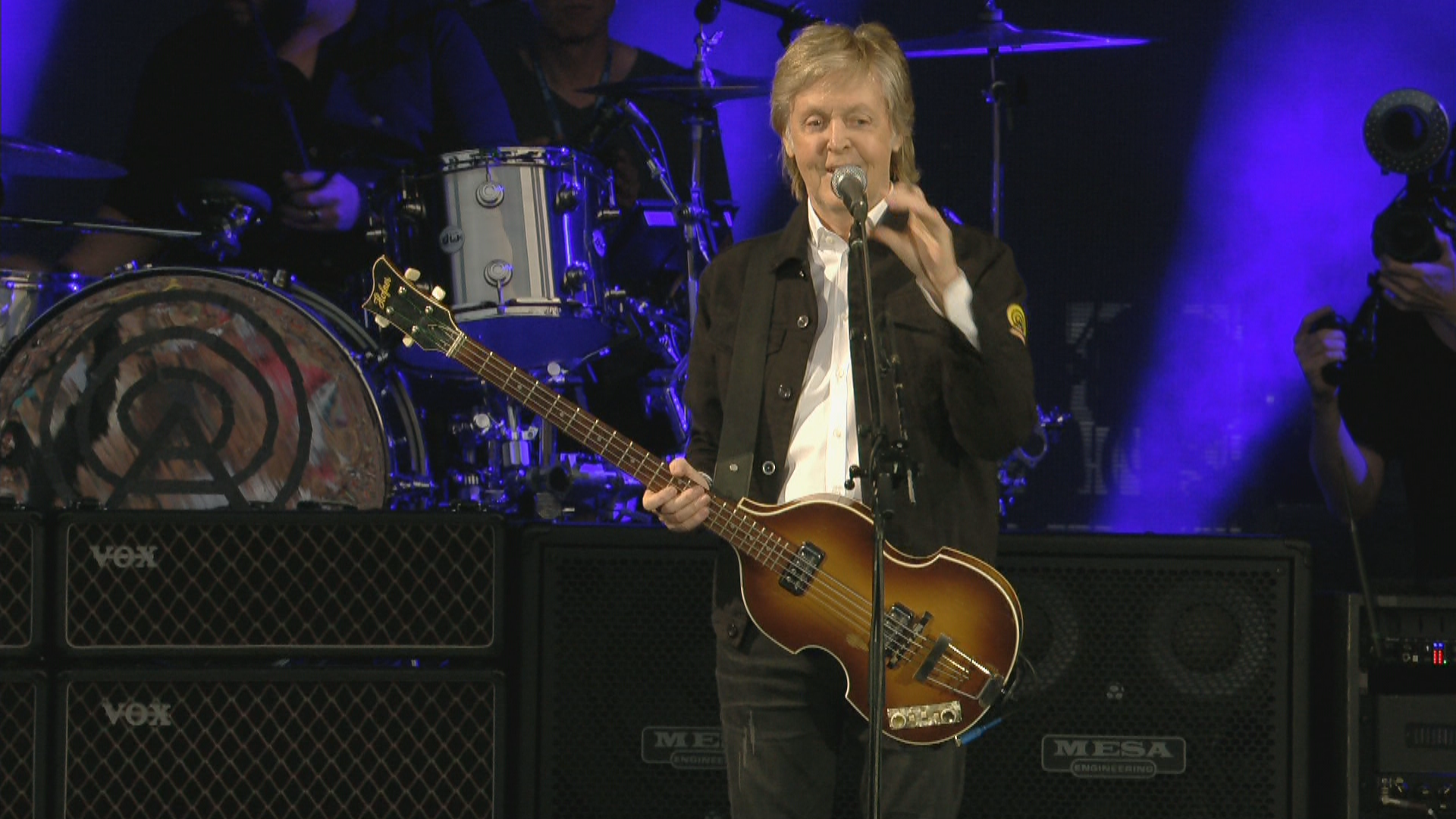 Paul McCartney performs at Lambeau Field on Saturday, June 8, 2019. (Image courtesy{ }MPL Tours Inc.){ }