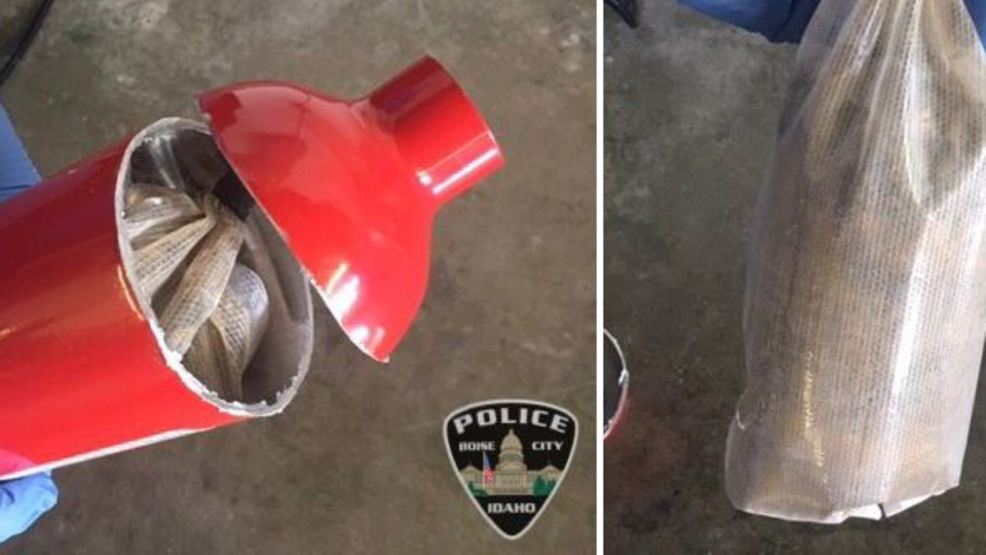 Boise PD: Driver hid more than a pound of heroin inside fire extinguisher